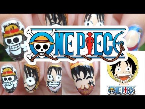 One Piece Monkey D Luffy Nail Art | モンキー・D・ルフィ
