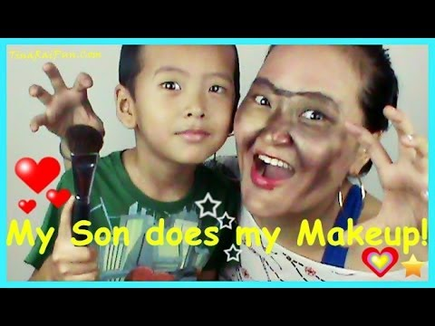 My Son Does My Makeup and Fun OutTakes/Bloopers! Indian Vlogger Blogger, Tina Rai Pun,