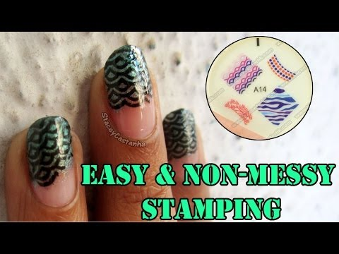 Easy and Non-Messy Soft Stamping Nailart Tutorial | Kkcenterhk