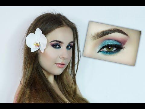 Kolorowy egzotyczny makijaż na lato