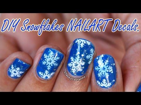 CHRISTMAS NAILART | DIY Snowflakes Nail Decals | Tutorial (BornPrettyStore)