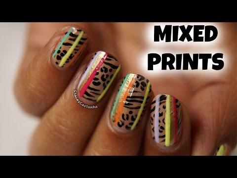 Mixed Prints NAILART tutorial