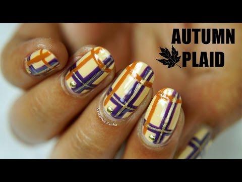 Autumn Plaid NAILART Tutorial