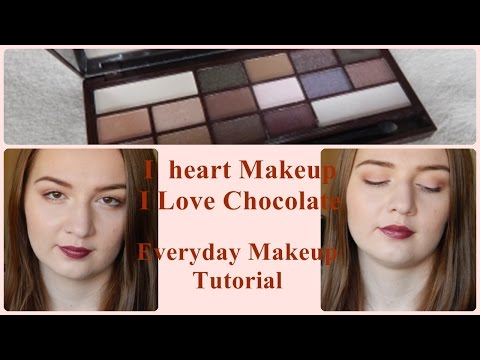 I ❤ Makeup I Heart Chocolate Palette // Everyday Makeup Tutorial with a Touch of Marsala
