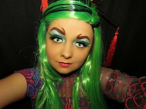 Monster High Jinafire Long Makeup Tutorial