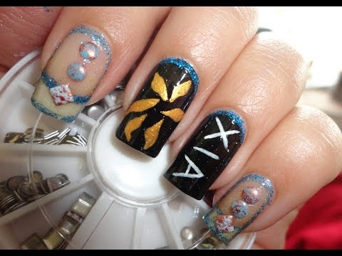 KPOP Nails: XIA 시아 준수 - 꽃 (FLOWER )