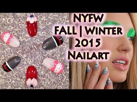 NYFW Fall/Winter 2015 Runway Nail Designs | Tutorial