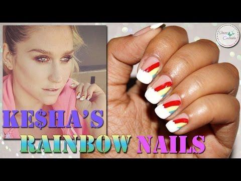 Ke$ha's Rainbow Nailart Tutorial | Nail Design for SPRING/SUMMER