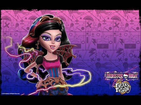 Monster High Dracubecca Freaky Fusion Makeup Tutorial