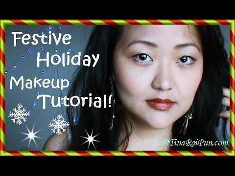 Easy Festive Glamorous Makeup Tutorial! Tina Rai Pun