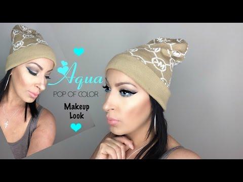 Aqua Pop Of Color | Makeup Look