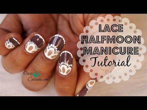 Lace Halfmoon Manicure Tutorial