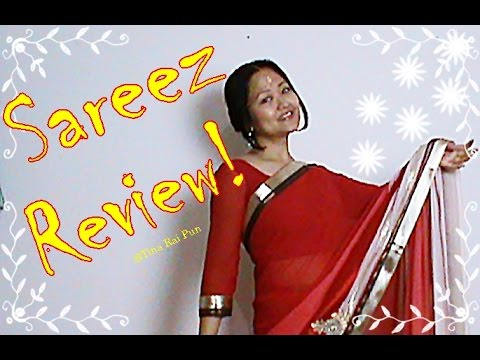 Sareez.com Review! Indian Vlogger/Blogger Tina Rai Pun! #Saree