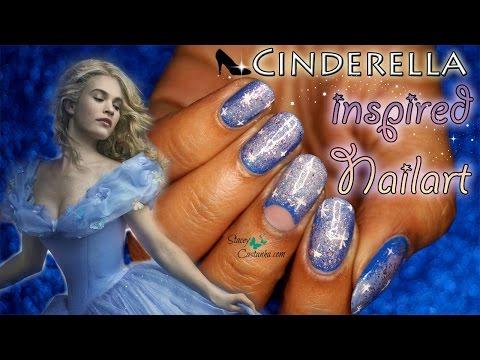Disney Cinderella 2015 Movie Inspired NAILART | Tutorial