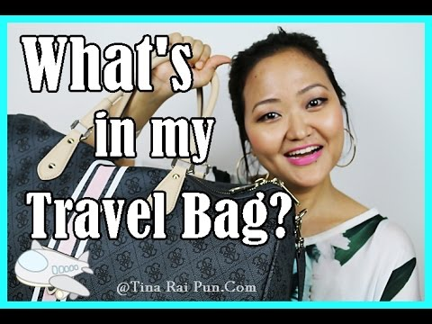 What's in my Travel Carry On Bag I In Flight Essentials! Tina Rai Pun