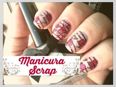 Scrapbooking manicura- Moyou London y Uberchic stamping