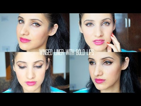 Winged Liner with Bold Lips   Beautifull & Blessed