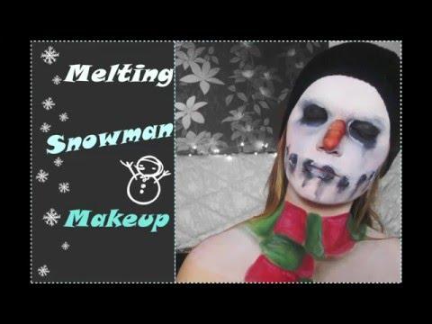 Melting Snowman Makeup (Speed Up) | Barbara Clifford
