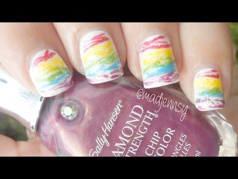 Rainbow Spun Sugar Nails!