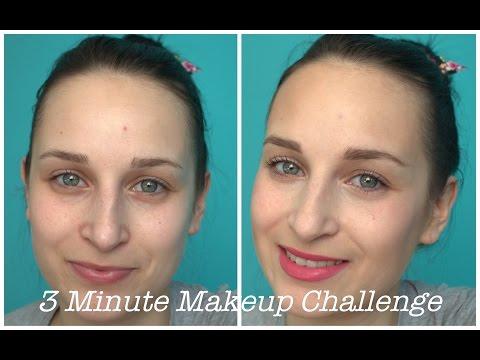 ***3 Minute Makeup Challenge/ Makijaż w 3 minuty***