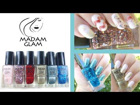 3 Nail Designs 1 Brand! Madam Glam Vegan Nail Polish Review