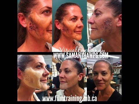 Film Training Manitoba SPFX class with Doug Morrow Visual Eye Candy Make Up Artist Samantha Wpg