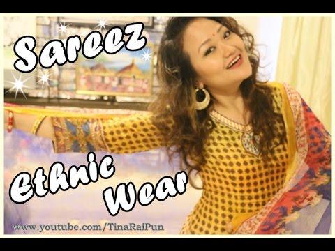 Sareez.Com Review & Try-On! GIVEAWAY(OPEN) & Ethnic Wear Tips I Tina Rai Pun