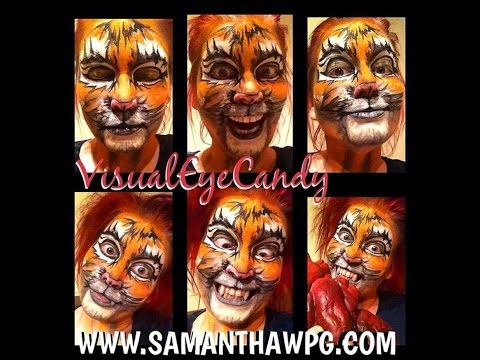 Disney Tiger Face Painting Fun with VisualEyeCandy