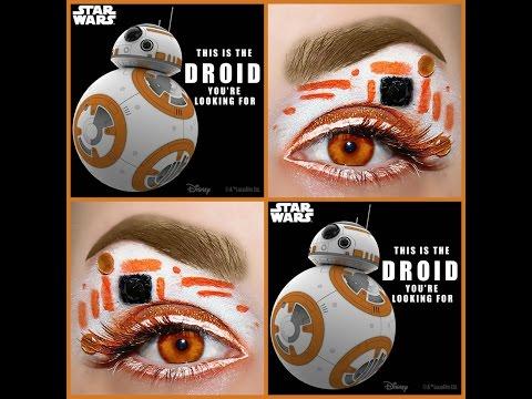 Star Wars BB-8 Inspired Makeup Tutorial