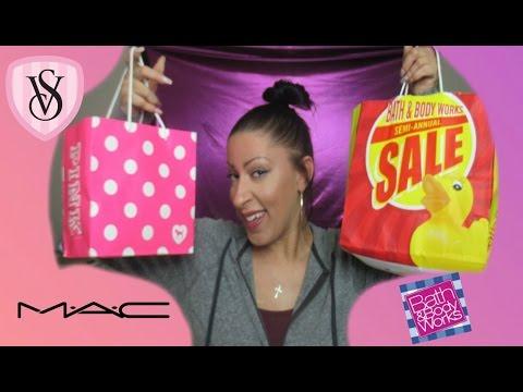 MAC | VS Pink | Bath & Body Works Haul | Semi Annual Sale