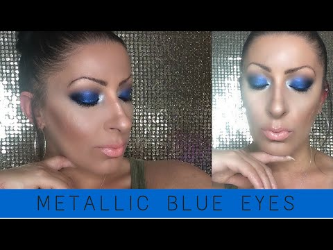Metallic Blue Eyes | Makeup Look