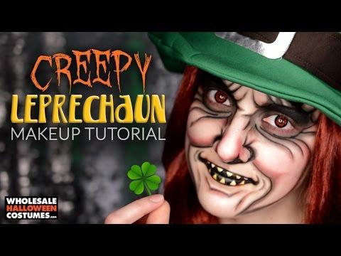 CREEPY LEPRECHAUN MAKEUP TUTORIAL ft. Caitlyn Kreklewich | #WHCdoesSFX