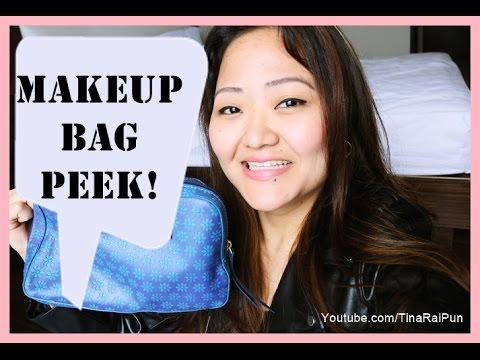 What's in my Holii Travel Makeup Bag 2016? Tina Rai Pun