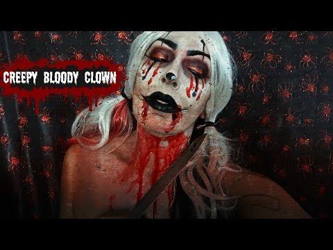 Creepy Bloody Clown | Halloween Tutorial