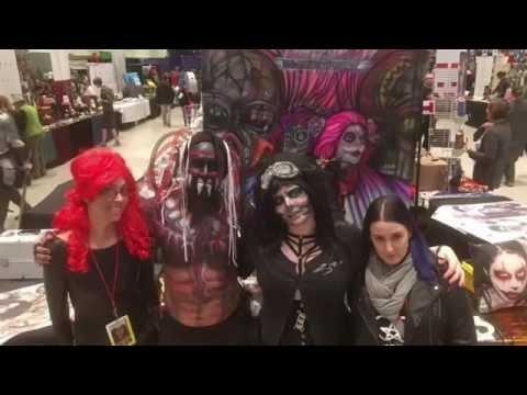 Inspire Demon King Finn Balor Airbrushed Body Art Halloween Weekend C4 Central Comic Con
