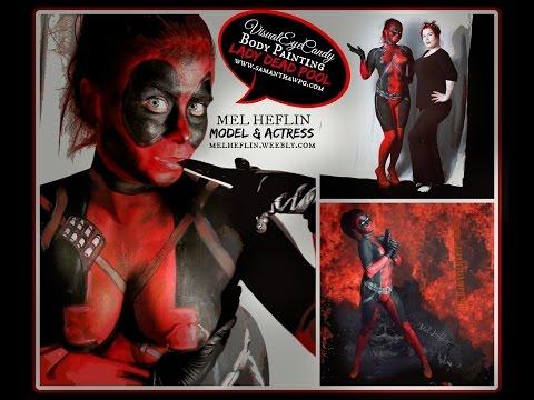 Winnipeg Body Painting Lady deadpool Body Paint by VisualEyeCandy