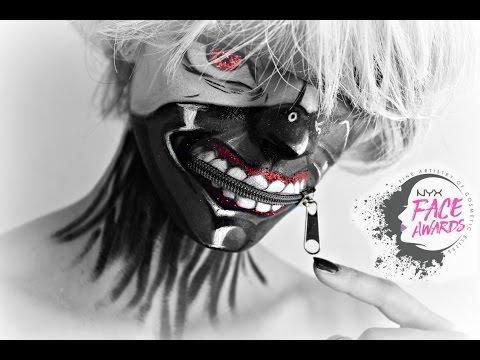 TOKYO GHOUL ANIME - Kaneki Ken / NYX FACE AWARDS SERBIA 2016 / Sminkanje sa Jelenom