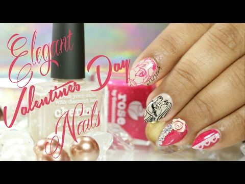 Elegant & Glam Valentine's Day Nails