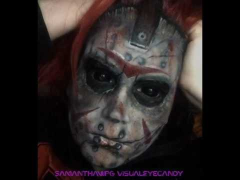 Happy Friday The 13th Jason inspired Airbrushed Body Painting by SamanthaWpg VisualEyeCandy