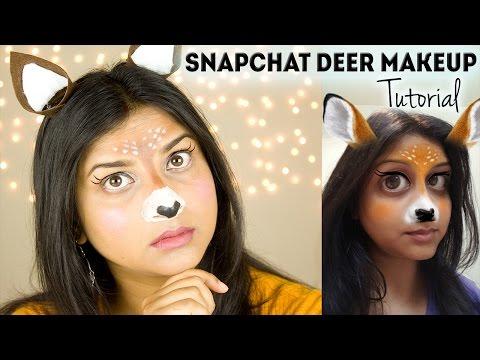 Snapchat Deer Filter / Cute Halloween Makeup Tutorial 2016 || DenDiva