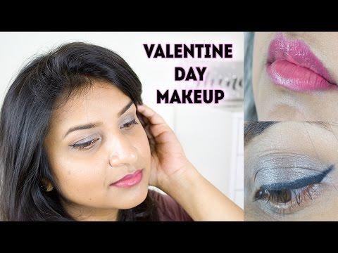 Soft Grey Smokey Eyes & Pink Lips | Valentine's Day Makeup Tutorial (2017) || DenDiva