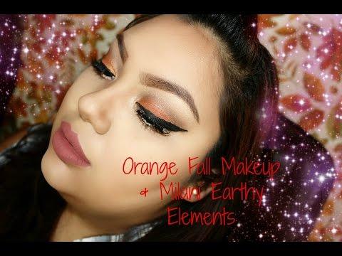 Orange Fall Makeup & Milani Earthy Elements Palette Tutorial
