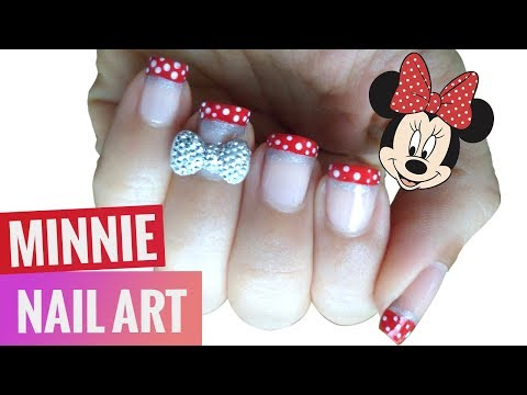 3D Bow Disney Minnie Nail Art ♡ EASY