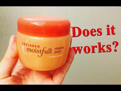 Etude House Moistfull Collagen Sleeping Pack Review - Korean Skincare