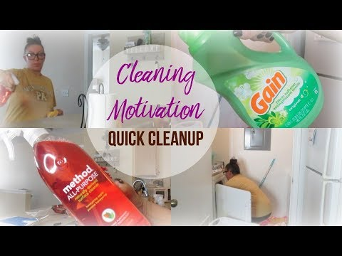 Quick House Clean Up | Cleaning Motivation | Clean With Me | Kitchen, Laundry, & Living Room
