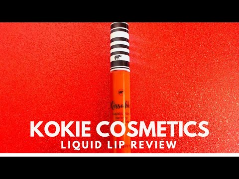 Wednesday Reviews | Kokie Cosmetics | Kissable Liquid Lipstick in On Fire
