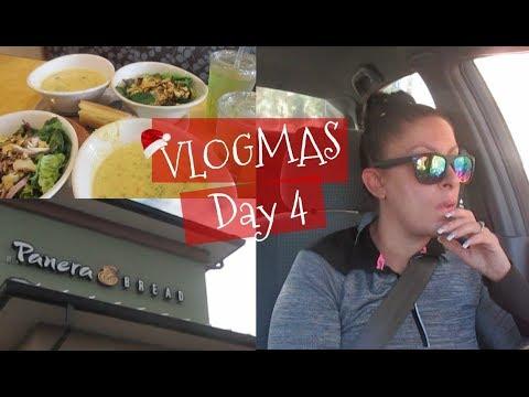 Panera Lunch   Starbucks   Christmas PJ's   VLOGMAS Day 4