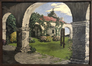 my grandfather's oil painting of Capistrano. 1949.