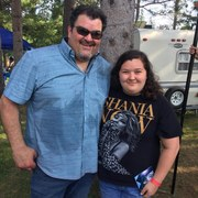 Hayley Verrall with Dave Adkins July, 2019