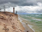 Little Sable Point lighthouse in danger. Michigan